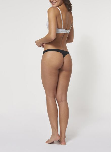 string femme second skin en coton noir noir - 1000006558 - HEMA