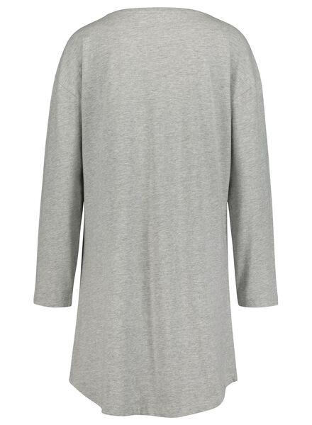 Damen-Nachthemd mittelgrau mittelgrau - 1000017233 - HEMA