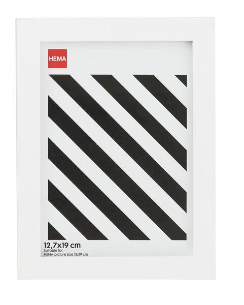 photo frame - wood - white 12.7 x 19 - 13680018 - hema