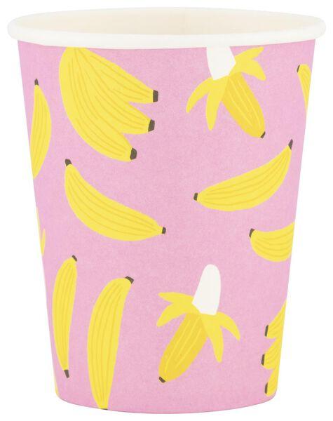 papieren bekers - 250 ml - banaan - 8 stuks - 14280130 - HEMA