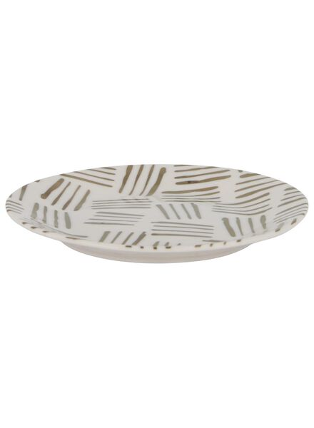 side plate - 17 cm - Bergen - white with gold-coloured stripe - 9602088 - hema