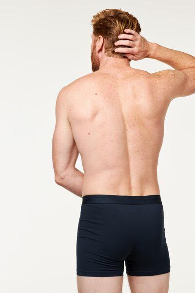 2-pack men's boxer shorts long real lasting cotton dark blue dark blue - 1000018783 - hema