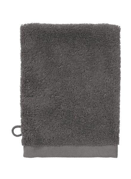 gant de toilette - qualité hôtel très douce - gris foncé uni gris foncé gant de toilette - 5220034 - HEMA