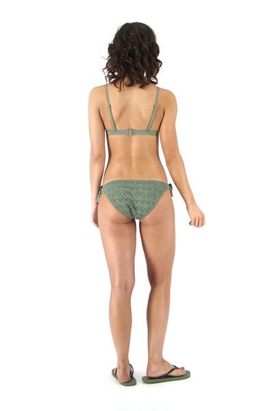 haut de bikini triangle rembourré vert armée vert armée - 1000017923 - HEMA