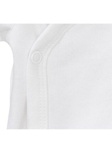 body croisé en coton biologique stretch - 2 pièces blanc blanc - 1000005358 - HEMA