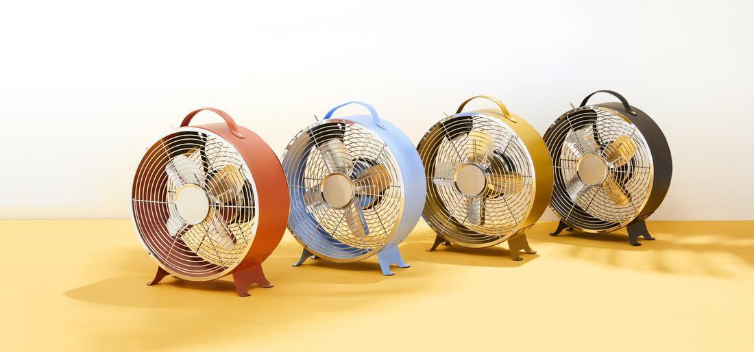 ventilateur de table rétro Ø 25,8 cm bleu