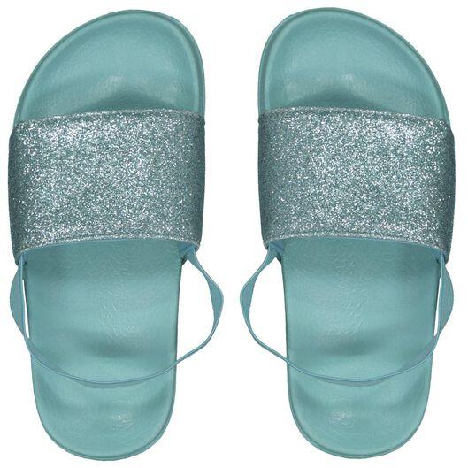children's flip-flops glitter mint green mint green - 1000023108 - hema