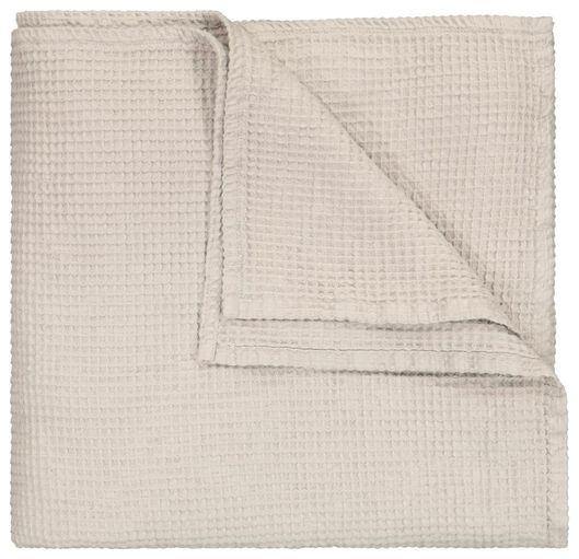 couvre-lit gaufré gris gris - 1000024517 - HEMA