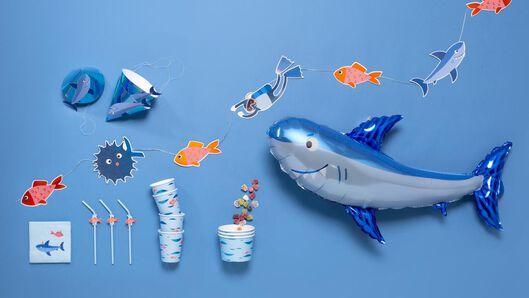 8 paper masks - shark - 14200349 - hema
