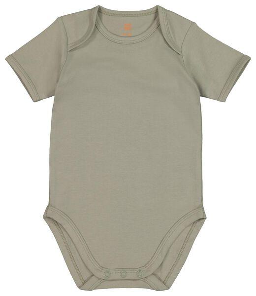 4er-Pack Baby-Bodys, Biobaumwolle, Stretch grün grün - 1000018393 - HEMA