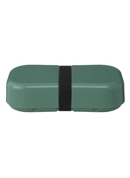 boîte à déjeuner avec élastique XL vert - 80630549 - HEMA