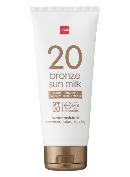 bronzing sun milk SPF 20 - 11610128 - hema