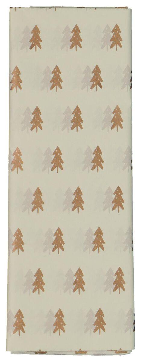 8 feuilles de papier de soie sapins 70x50 - 25700157 - HEMA