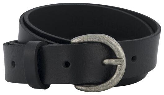women's belt full grain leather 2.5 cm black black - 1000023438 - hema