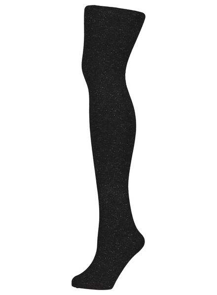 fashion tights with glitter black black - 1000016540 - hema