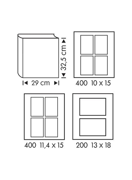 Fotoalbum, 32.5 x 29 cm, silber - 14633301 - HEMA