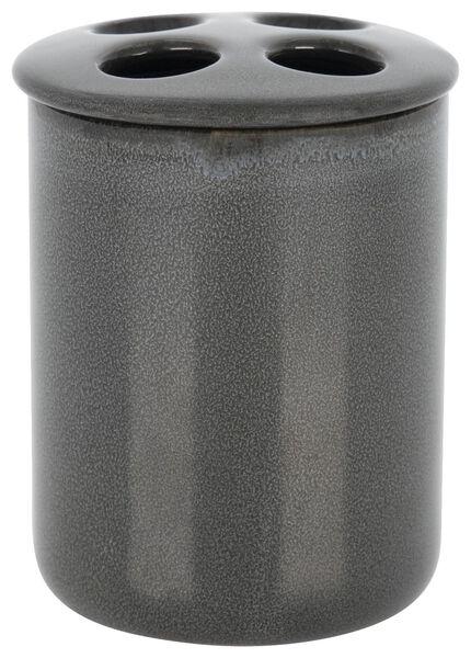 porte brosse à dents - Ø8.5x10cm - céramique réactive - anthracite - 80310008 - HEMA