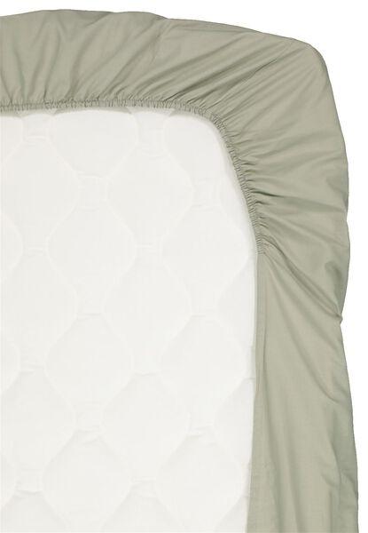 drap-housse coton doux 90x200 vert - 5120035 - HEMA