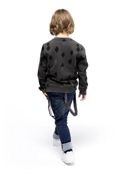 children's sweatshirt dark grey dark grey - 1000017030 - hema