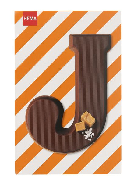 caramel sea salt milk chocolate letter J - 10039010 - hema