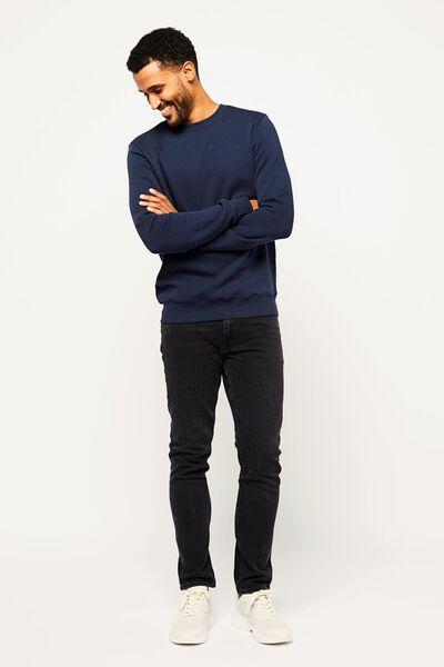 Herren-Sweatshirt, Rundhalsausschnitt dunkelblau dunkelblau - 1000022452 - HEMA