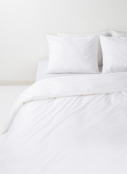 duvet cover - soft cotton - uni white white - 1000014129 - hema