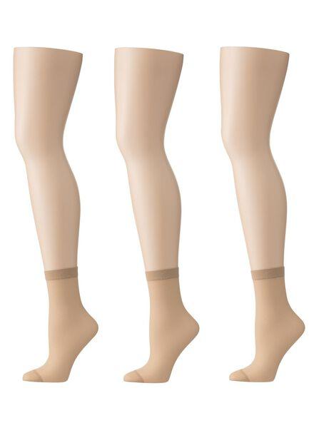 3-pack ankle socks semi-transparent 20 denier - 4032260 - hema