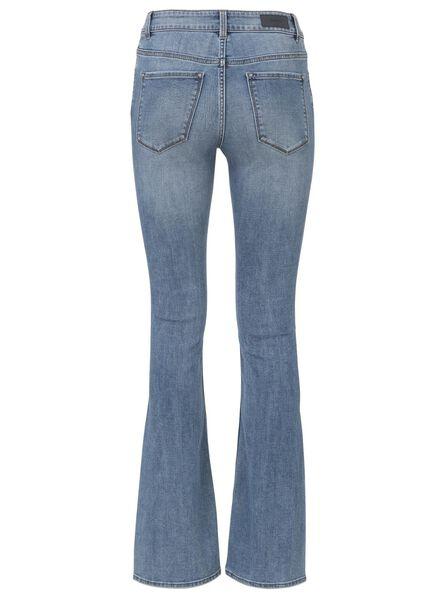women's boot-cut denim mid blue mid blue - 1000013218 - hema