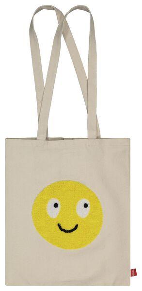 Canvas-Tasche mit Smiley, zusammenfaltbar, 40 x 36 cm - 61140036 - HEMA