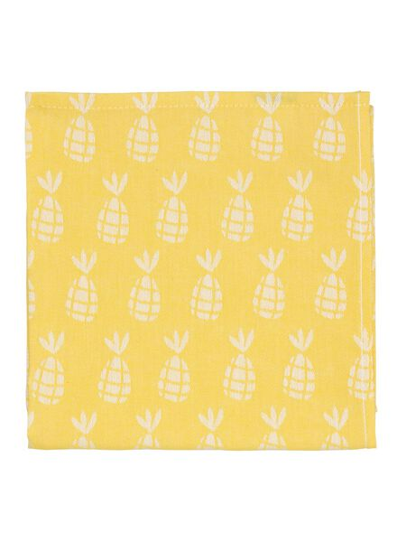 tea towel 65 x 65 cm theedoek yellow - 5470001 - hema