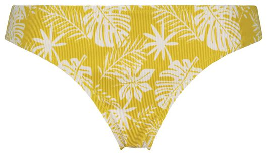 Bademode - HEMA Damen Bikinislip, Gerippt, Blumen Gelb  - Onlineshop HEMA