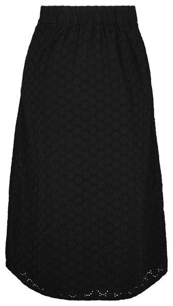 Damen-Rock mit Knopfleiste schwarz schwarz - 1000024346 - HEMA