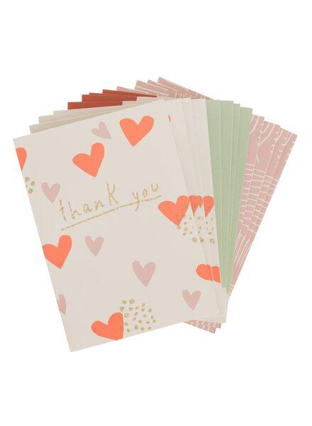 lot de 12 cartes de vœux - 14160126 - HEMA