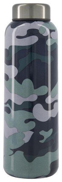 bouteille isotherme 450ml inox double paroi camouflage - 80600114 - HEMA