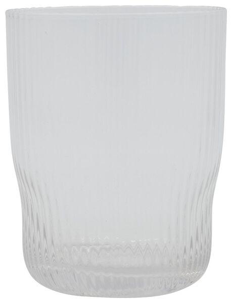 water glass Bergen stripe relief 360 ml - 9401050 - hema