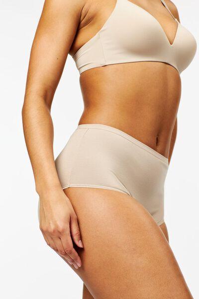 3er-Pack Damen-Slips, hochgeschnitten beige beige - 1000024095 - HEMA