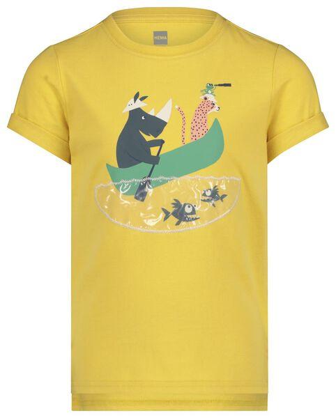 children's T-shirt yellow yellow - 1000019120 - hema