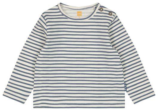 Newborn-Shirt, Streifen eierschalenfarben eierschalenfarben - 1000023383 - HEMA