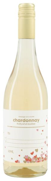 message on a bottle chardonnay - 0,75 L - 17377512 - HEMA