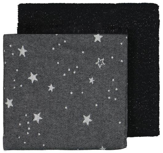 Image of HEMA 2 Tea- And Kitchen Towels Stars Black