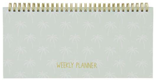 weekly planner spiral 13x27 palm tree - 14100075 - hema