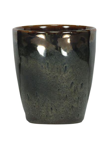 mug - 8 cm - Porto - émail réactif - taupe - 9602057 - HEMA