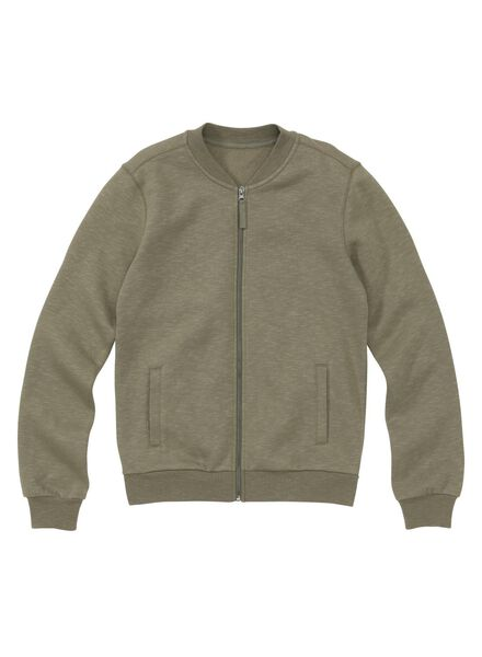 men's sweatshirt fabric bomber jacket green green - 1000006140 - hema