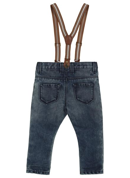 baby denim trousers with suspenders blue blue - 1000014357 - hema