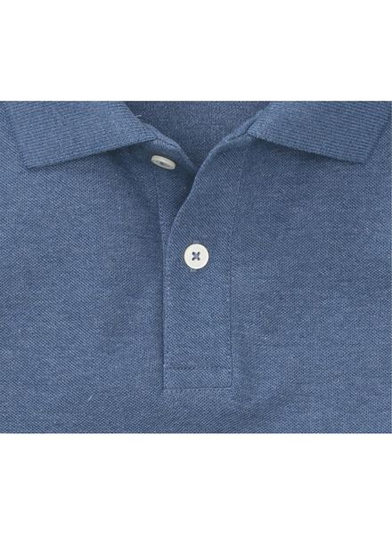 men's polo shirt - organic cotton mid blue mid blue - 1000006099 - hema