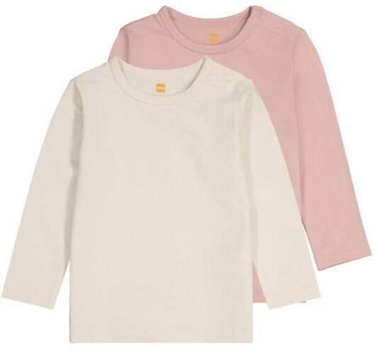 HEMA 2er-Pack Baby-T-Shirts, Bambus Rosa