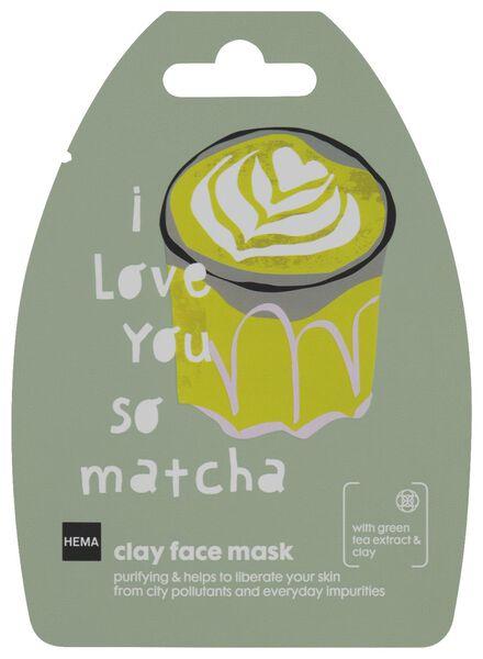 gezichtsmasker klei matcha - 10 g - 17800104 - HEMA