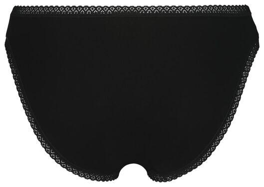 3er-Pack Damen-Slips mit Spitze schwarz schwarz - 1000022906 - HEMA