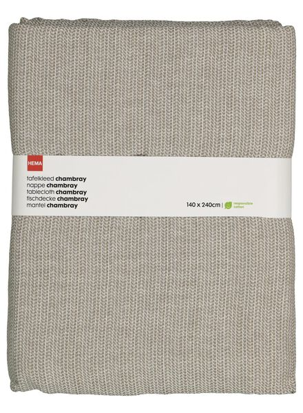 nappe coton chambray 140x240 taupe - 5300075 - HEMA