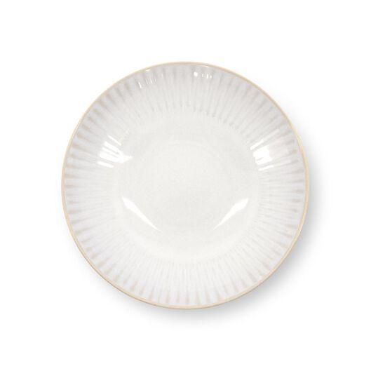 deep plate - Ø21 cm - France - reactive glaze - white - 9602272 - hema